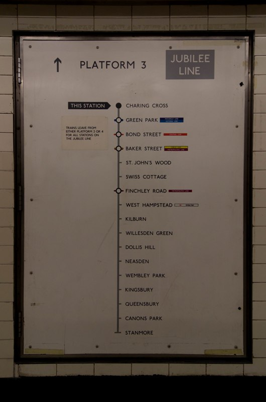 Jubilee Line Route Map